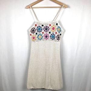 Crochet Bodycon Dress XL Sleeveless Empire Waist